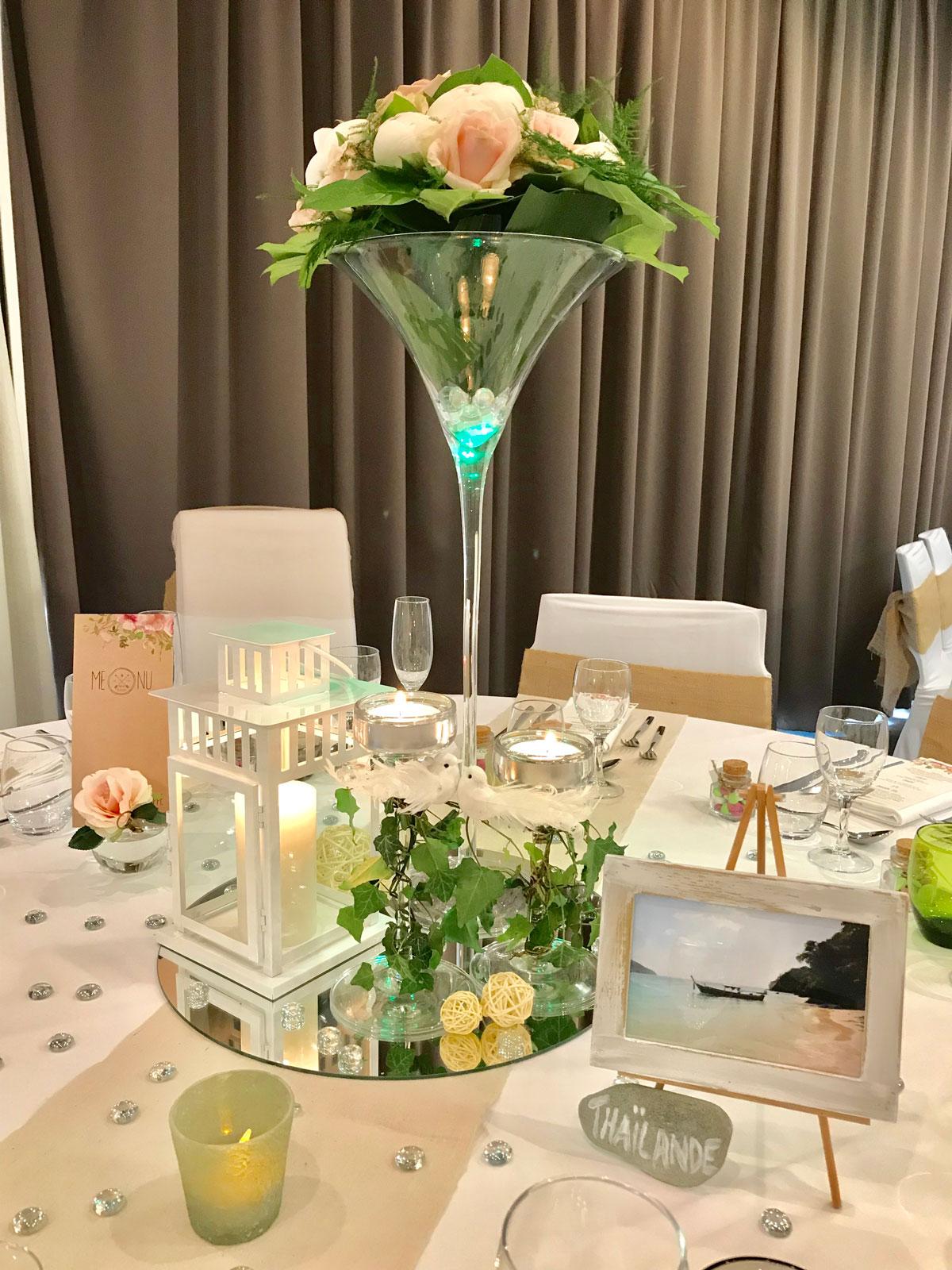 belle et fée décoration de table nature tout en lin et bougies