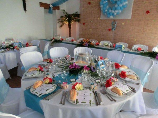 belle et fée décoration de table mariage exotique