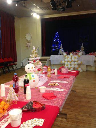 belle et fée événement associatif décoration de salle des fêtes pour noël